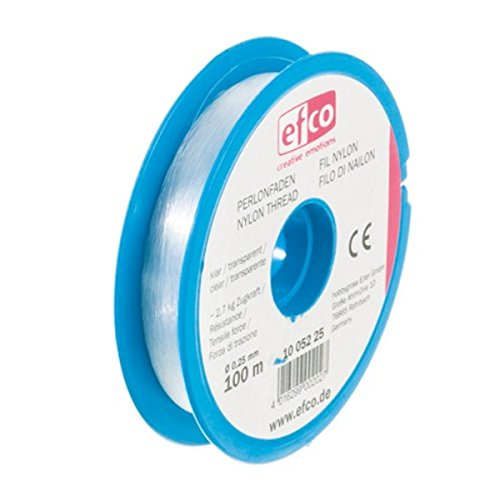 EFCO Zugkraft Gewinde, Polyamid, transparent, 2,7kg, 0,25mm Durchmesser, 100m -