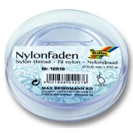 NEU Nylonfaden auf Spule. 0.16mmx100m.transp. -