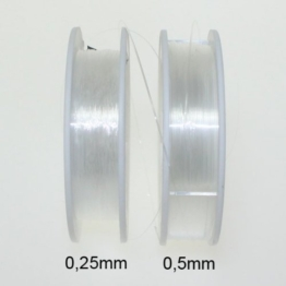 Perlenfaden Perlonfaden Nylonfaden Faden transparent 0,25mm 50m -