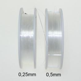 Perlenfaden Perlonfaden Nylonfaden Faden transparent 0,5mm 50m -