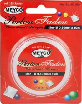 Perlonfaden klar transparent 0,2mm 50m -