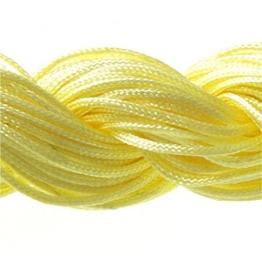 Perlonfaden Schmuckband 1 mm für tibetische Shamballa-Armband, Perlen, 30 m, Gelb -