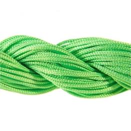 Perlonfaden Schmuckband 1 mm für tibetische Shamballa-Armband, Perlen, 30 m, leuchtend Grün -